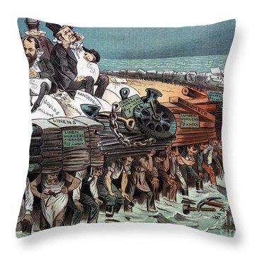 American Financiers, 1883 Throw Pillow by Granger