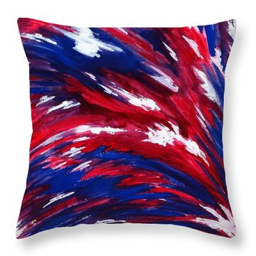 American Flag Throw Pillow by Michael Vigliotti