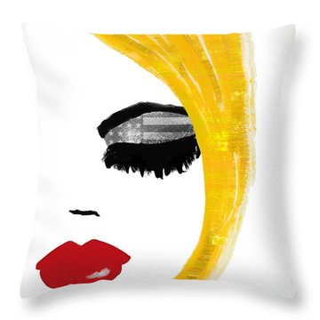American Girl Throw Pillow by Mindy Sommers