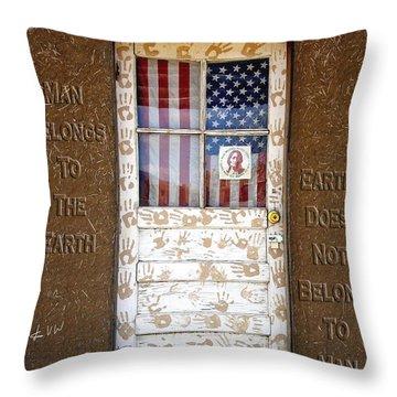 American Native Finger Prints Throw Pillow by Kurt Van Wagner