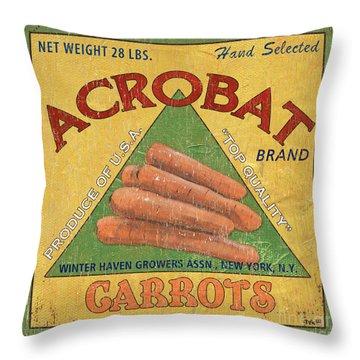 Americana Vegetables 2 Throw Pillow by Debbie DeWitt