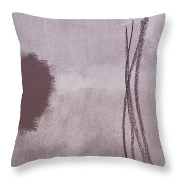 Amethyst 2- Abstract Art By Linda Woods Throw Pillow by Linda Woods