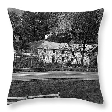 Amish Farm Throw Pillow by Kathleen Struckle