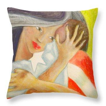 Amor Eterno Throw Pillow by Mayra  Martinez