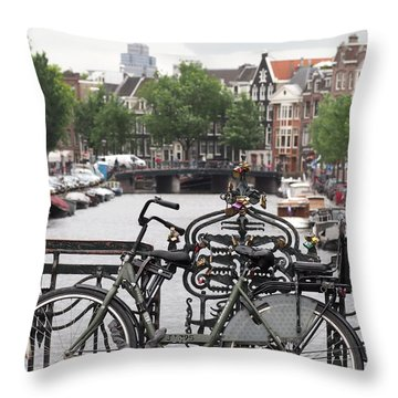 Amsterdam Throw Pillow by Rona Black