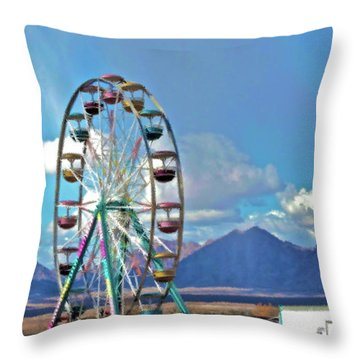 Amusement View Throw Pillow by Gwyn Newcombe