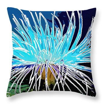 An Abstract Scene Of Sea Anemone 1 Throw Pillow by Lanjee Chee