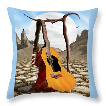 An Acoustic Nightmare Throw Pillow by Mike McGlothlen