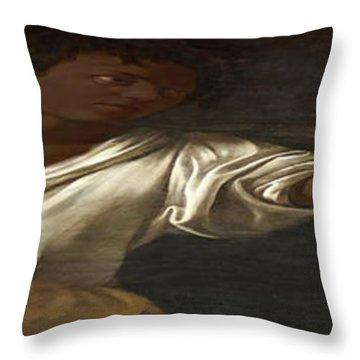 Ancient Human Instinct Throw Pillow by David Bridburg