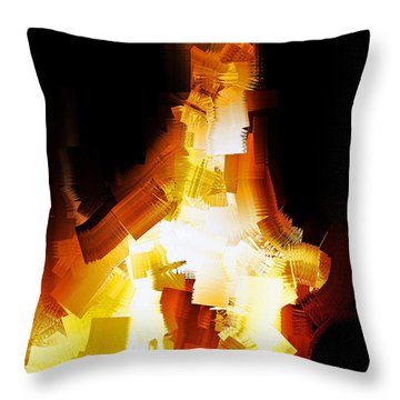 And The Angel Said Do Not Fear Throw Pillow by Michael Durst