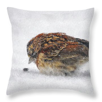 And These Thy Gifts  Throw Pillow by Lois Bryan
