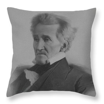 Andrew Jackson Throw Pillow by War Is Hell Store