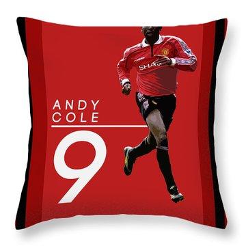 Andy Cole Throw Pillow by Semih Yurdabak