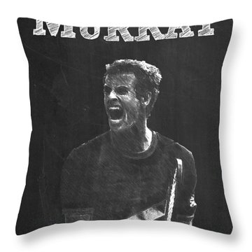 Andy Murray Throw Pillow by Semih Yurdabak