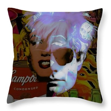 Andy Warhol Collectioin Throw Pillow by Marvin Blaine