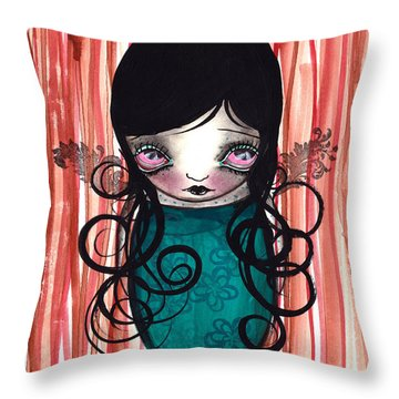 Angel Mermaid Throw Pillow by  Abril Andrade Griffith
