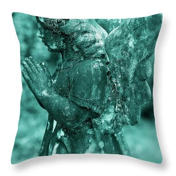 Angel Prayer Throw Pillow by John Greim