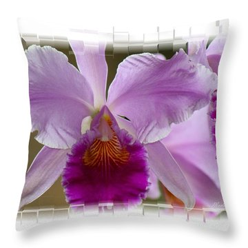 Angel Wings Orchid Throw Pillow by Madeline  Allen - SmudgeArt