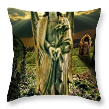 Angelic Light In Color Throw Pillow by Meirion Matthias
