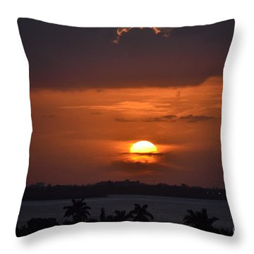 Angel's Head Sunset Throw Pillow by Rene Triay Photography