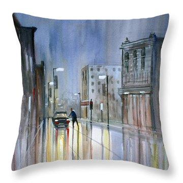 Another Rainy Night Throw Pillow by Ryan Radke