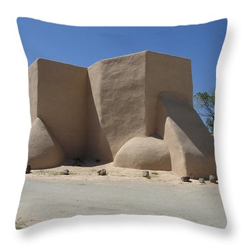 Ansel's Church Throw Pillow by Jerry McElroy
