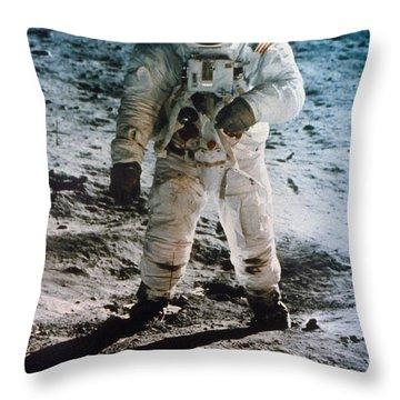 Apollo 11: Buzz Aldrin Throw Pillow by Granger