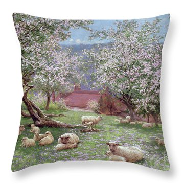 Appleblossom Throw Pillow by William Biscombe Gardner