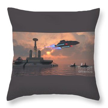 Aquarius Major Throw Pillow by Corey Ford
