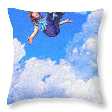 Aquarius Rising Throw Pillow by Dominic Piperata