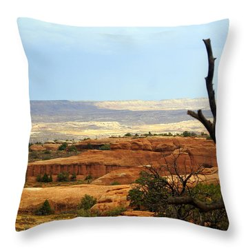 Arches Vista Throw Pillow by Marty Koch