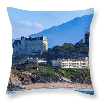 Throw Pillow featuring the photograph Architectural Integration by Thierry Bouriat