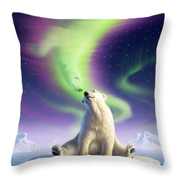 Arctic Kiss Throw Pillow by Jerry LoFaro