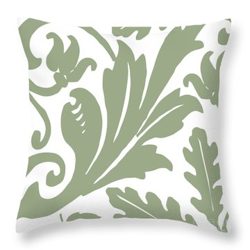 Arielle Olive Throw Pillow by Mindy Sommers