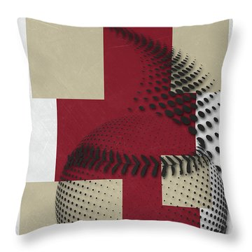 Arizona Diamondbacks Art Throw Pillow by Joe Hamilton