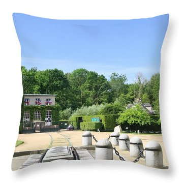 Throw Pillow featuring the photograph Armistice Clearing In Compiegne by Travel Pics
