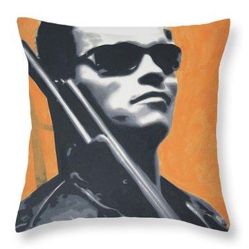Arnold Schwarzenegger 2013 Throw Pillow by Luis Ludzska