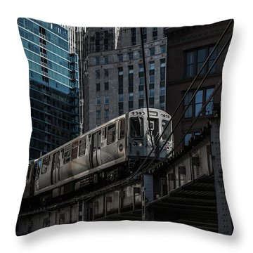Around The Corner, Chicago Throw Pillow by Reinier Snijders