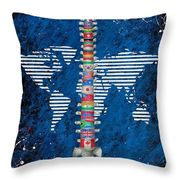 Around The World Throw Pillow by Brent Buss