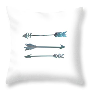 Arrows Throw Pillow by Priscilla Wolfe