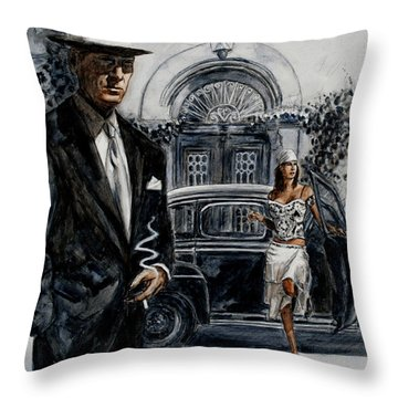 Art Cafe 1900 Throw Pillow by Theo Michael