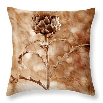 Artichoke Bloom Throw Pillow by La Rae  Roberts