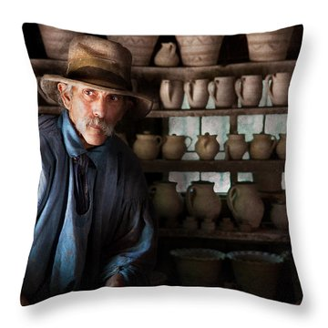 Artist - Potter - The Potter II Throw Pillow by Mike Savad