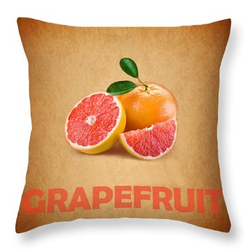 Grapefruit Throw Pillow by Mark Rogan