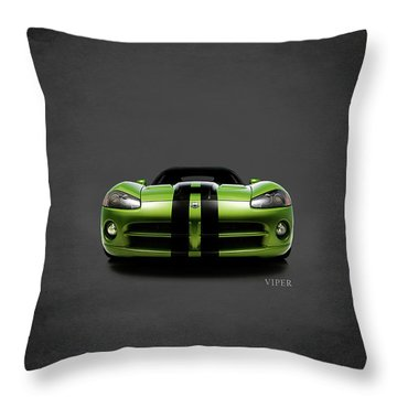 Dodge Viper Throw Pillow by Mark Rogan
