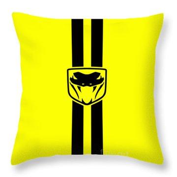 Dodge Viper Yellow Phone Case Throw Pillow by Mark Rogan