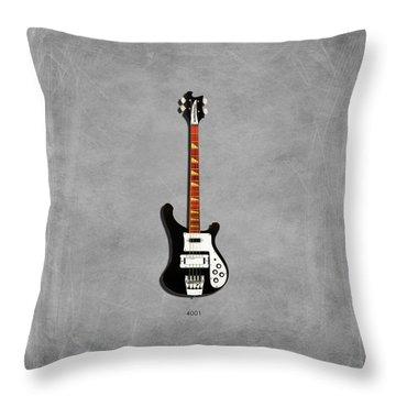 Rickenbacker 4001 1979 Throw Pillow by Mark Rogan