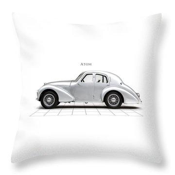Aston Martin Atom Throw Pillow by Mark Rogan