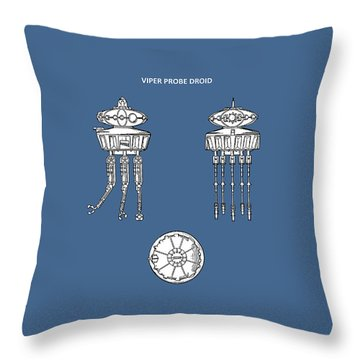 Star Wars - Droid Patent Throw Pillow by Mark Rogan