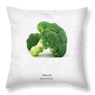 Broccoli Throw Pillow by Mark Rogan